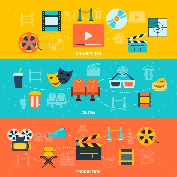 Cinema Horizontal Banners Set - Media Technology