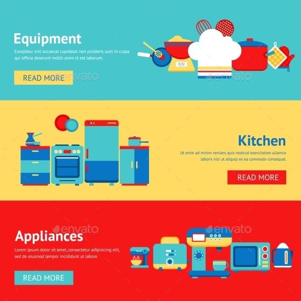 Kitchen Banner Set - Miscellaneous Vectors