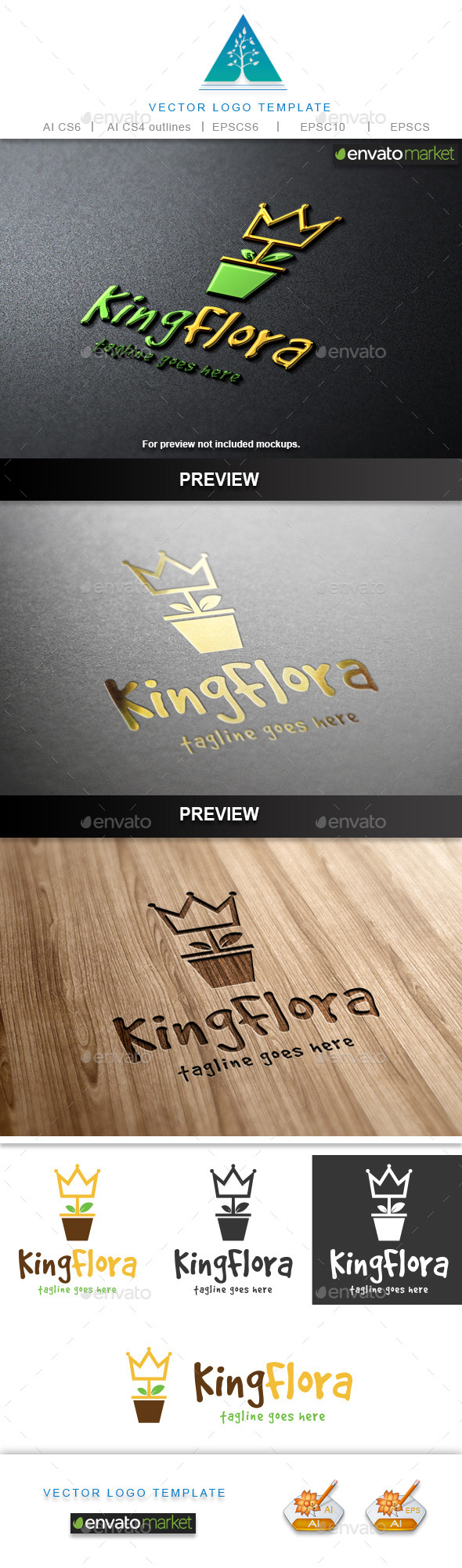 King Flora Logo - Crests Logo Templates