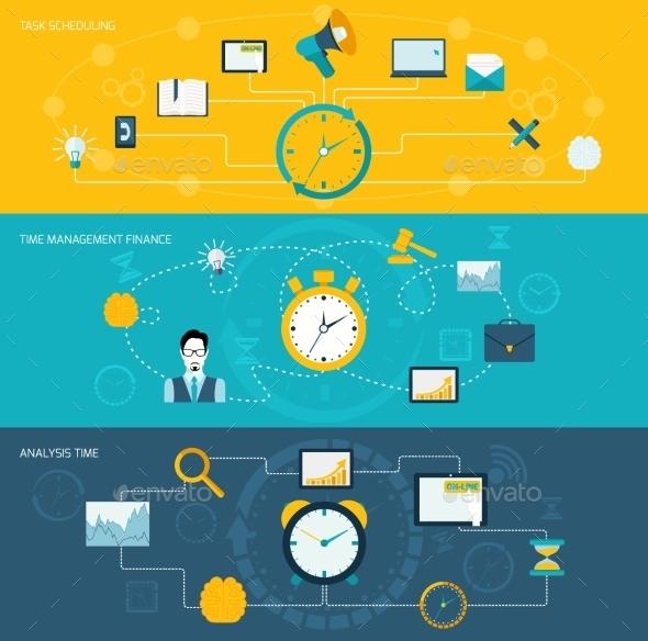 Time Management Banner Set - Concepts Business