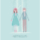 Boy and Girl Holding Hands During Winter Time - GraphicRiver Item for Sale