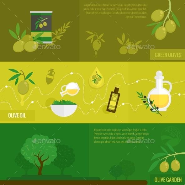 Olives Banner Set - Food Objects