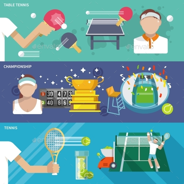 Tennis Banner Set - Sports/Activity Conceptual