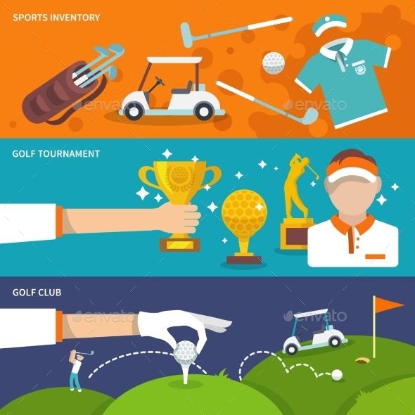 Golf Banner Set - Sports/Activity Conceptual