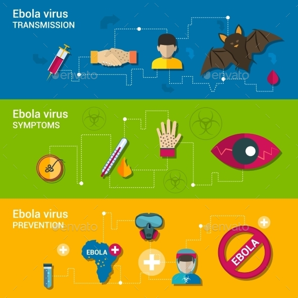 Ebola Virus Flat Banners - Health/Medicine Conceptual