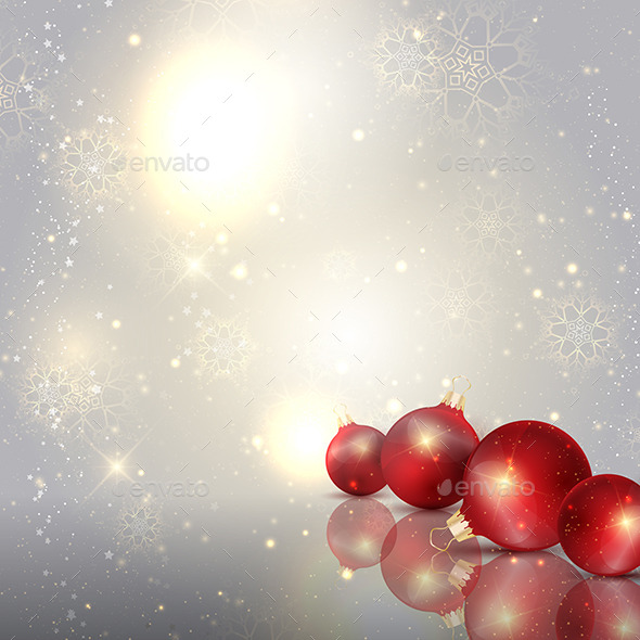 Christmas Baubles Background - Christmas Seasons/Holidays