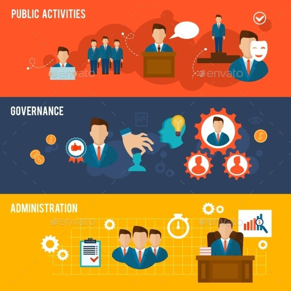 Executive Banners Flat - Business Conceptual