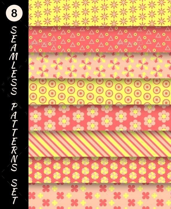 Seamless Patterns Set - Patterns Decorative