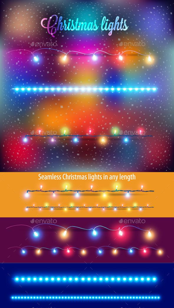 Template Christmas Tree Garlands - Christmas Seasons/Holidays
