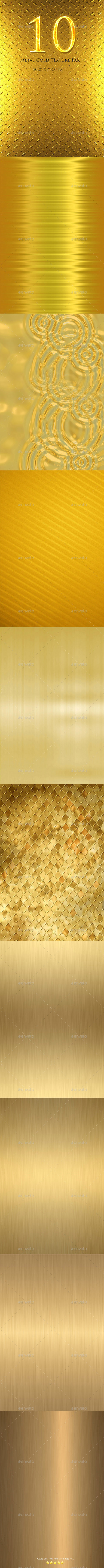 10 Metal Gold Texture Part 1 - Abstract Textures