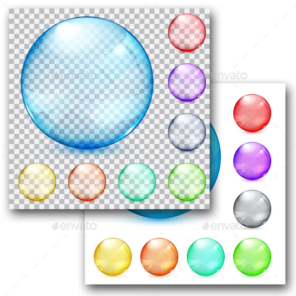 Multicolored Glass Spheres - Decorative Symbols Decorative