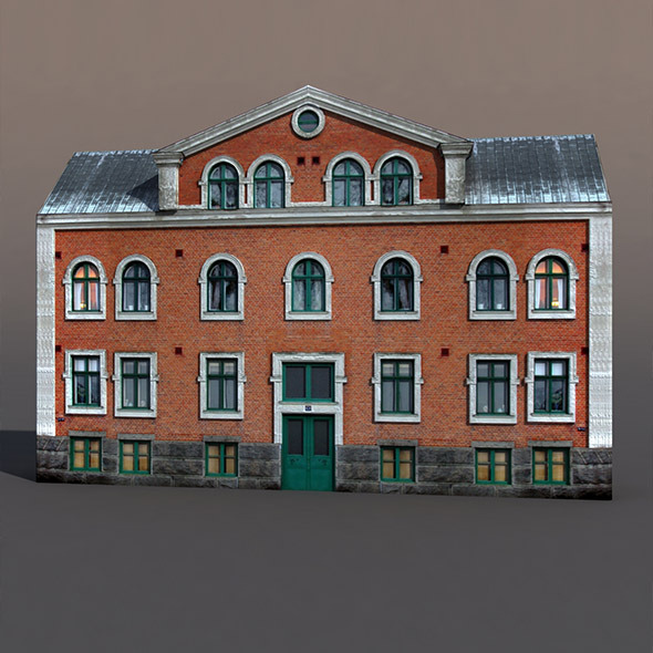 Apartment House #50 Low Poly 3d Model - 3DOcean Item for Sale