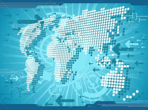 World map background - Backgrounds Decorative