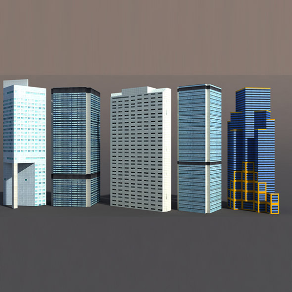 High Rise Buildings - 3DOcean Item for Sale