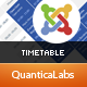 Timetable Responsive Schedule For Joomla
