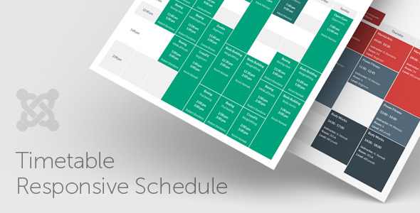 Timetable Responsive Schedule For Joomla - CodeCanyon Item for Sale