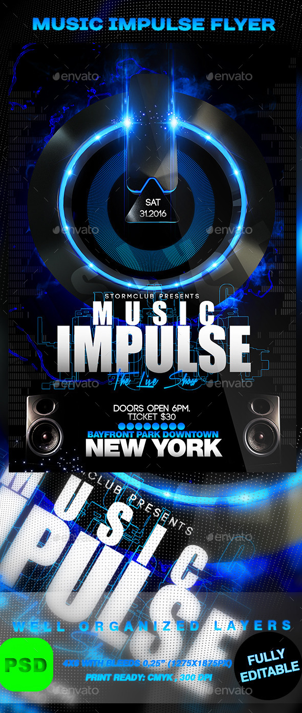 Music Impulse Flyer - Events Flyers