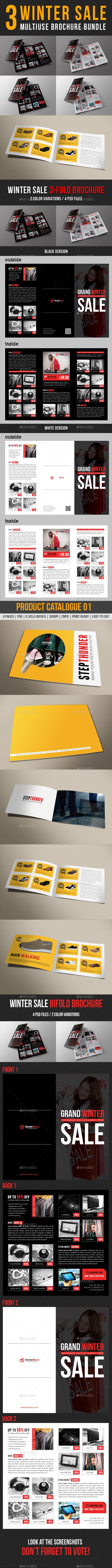 3 in 1 Winter Sale Multiuse Brochure Bundle - Corporate Brochures
