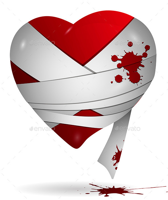 Heart in Bandages - Valentines Seasons/Holidays