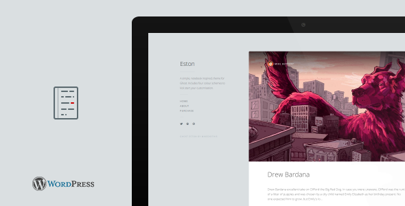 Eston – A Simple Notebook WordPress Blog Theme