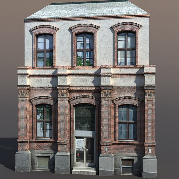 Apartment House #63 Low Poly 3d Model - 3DOcean Item for Sale