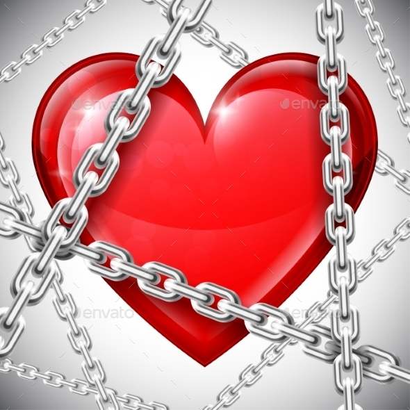 Heart and Chains - Valentines Seasons/Holidays