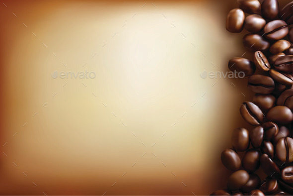 Background with Coffee Beans and Old Paper  - Backgrounds Decorative