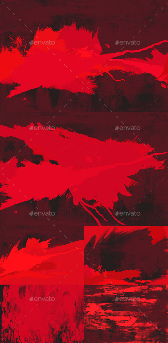 6 Red Paint Backgrounds - Abstract Backgrounds