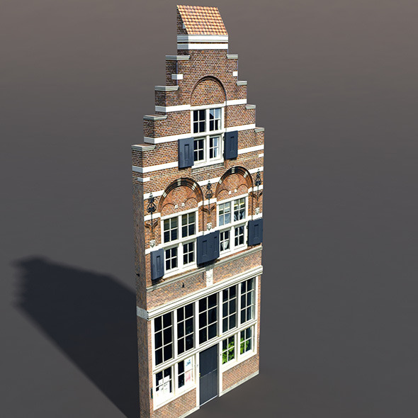 Apartment House #69 Low Poly 3d Model - 3DOcean Item for Sale