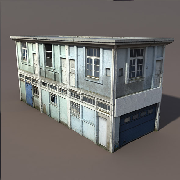 Derelict House Low poly 3d Model - 3DOcean Item for Sale
