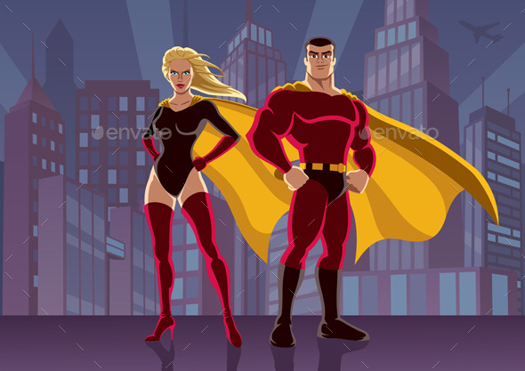 Superhero Couple 2 - People Characters