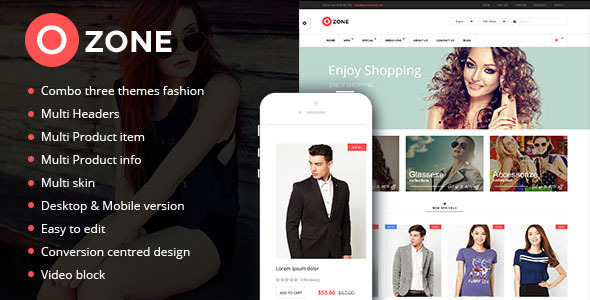 Ozone - Multi-Purpose Responsive Prestashop Theme
