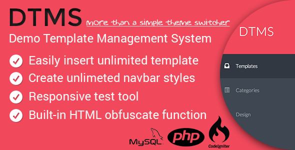 DTMS - Demo Templates Management System - CodeCanyon Item for Sale