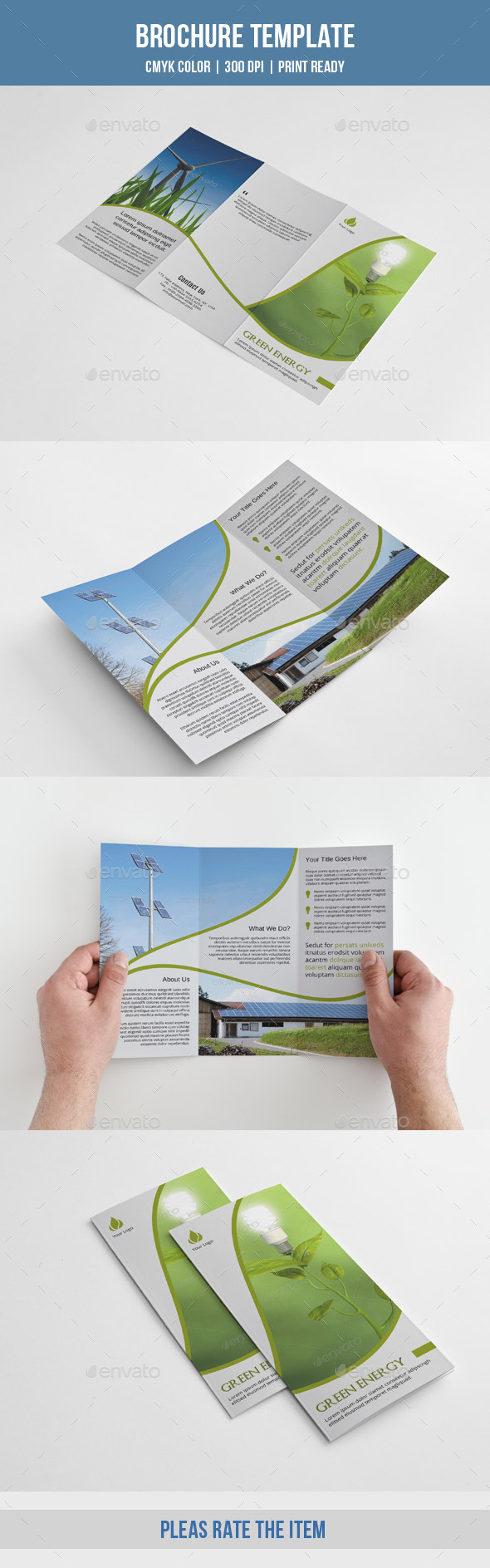 Green Energy Trifold-V199 - Corporate Brochures
