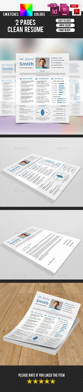 Clean Resume-V12 - Resumes Stationery