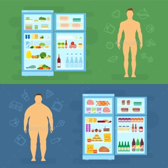 Healthy Lifestyle Flat Infographic  - Health/Medicine Conceptual
