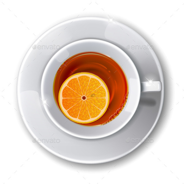 Cup with Tea - Food Objects