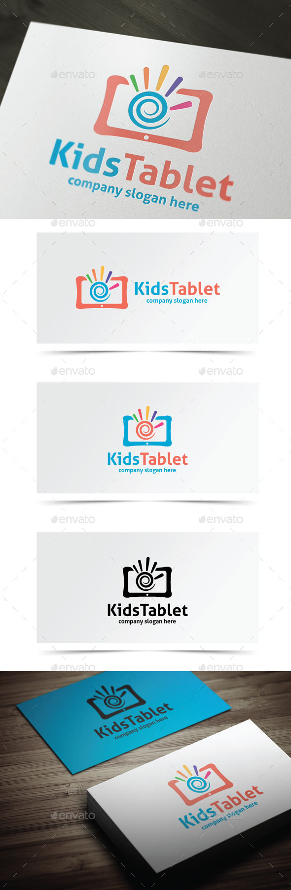 Kids Tablet - Objects Logo Templates