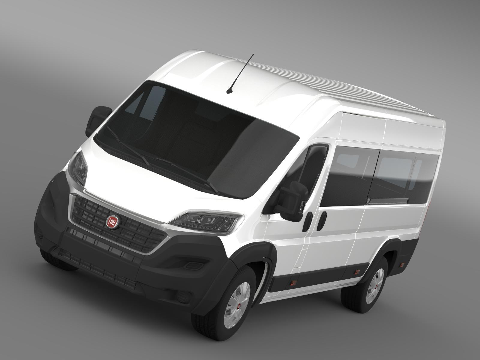 fiat ducato maxi minibus 2015 by creator 3d 3docean. Black Bedroom Furniture Sets. Home Design Ideas