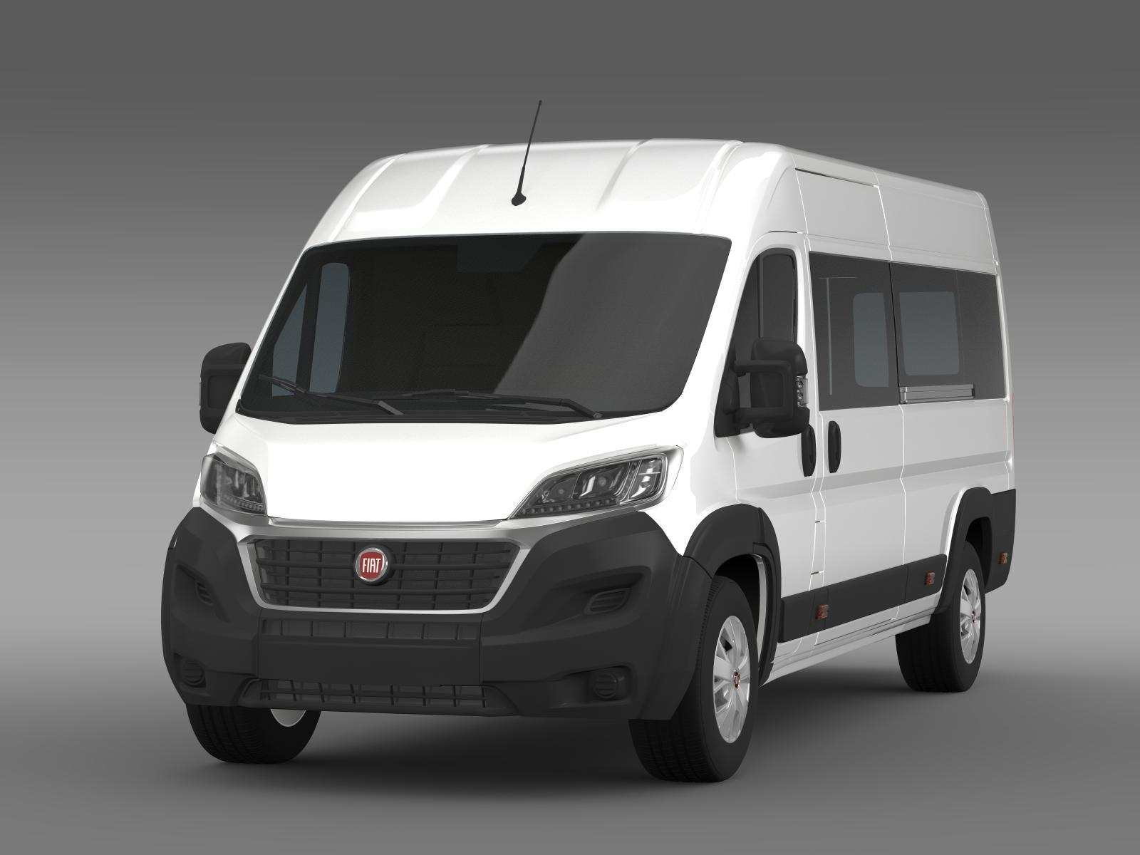 fiat ducato maxi minibus 2015 by creator 3d 3docean. Black Bedroom Furniture Sets. Home Design Ideas