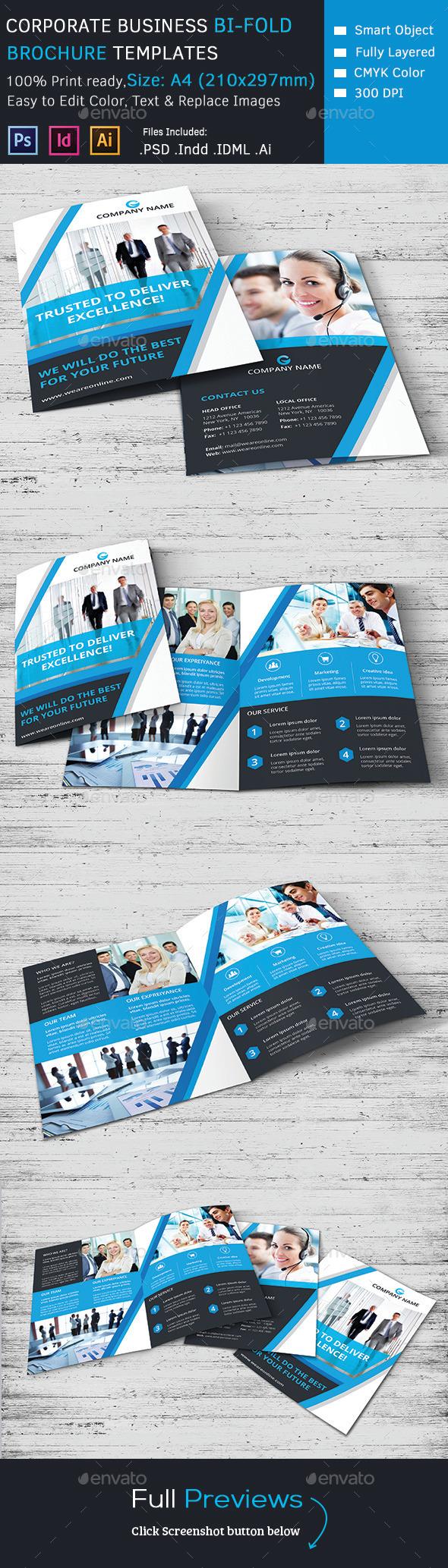 Corporate Marketing Bi-Fold Brochure - Corporate Brochures