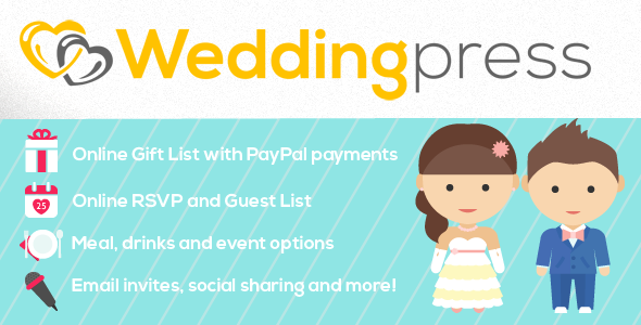 WeddingPress - WordPress Wedding Plugin - CodeCanyon Item for Sale