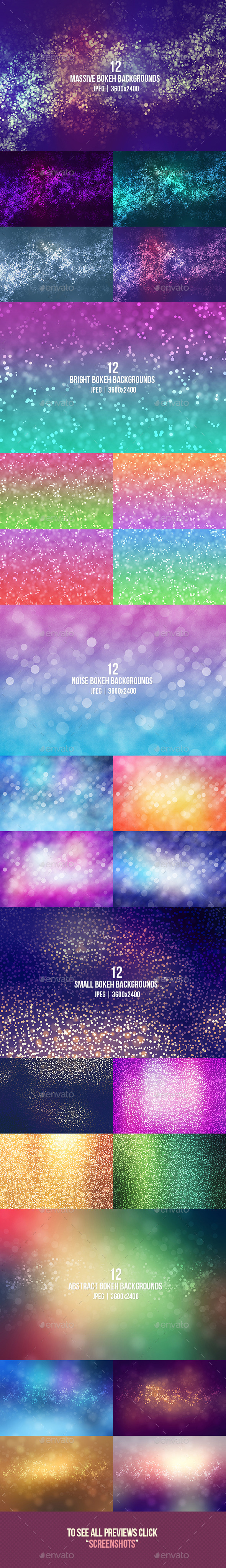 Bokeh Backgrounds Bundle - Abstract Backgrounds