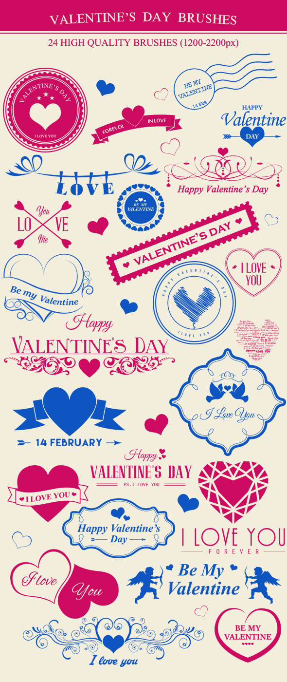 Valentine's Day Brushes - Artistic Brushes