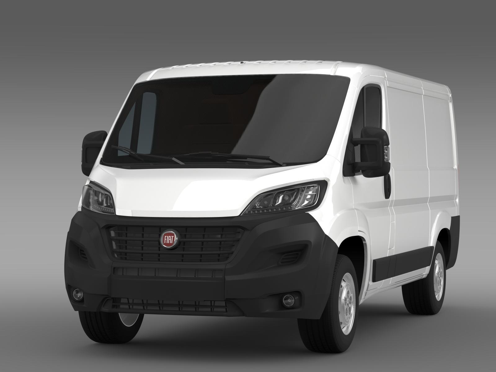 fiat ducato van l1h1 2015 by creator 3d 3docean. Black Bedroom Furniture Sets. Home Design Ideas