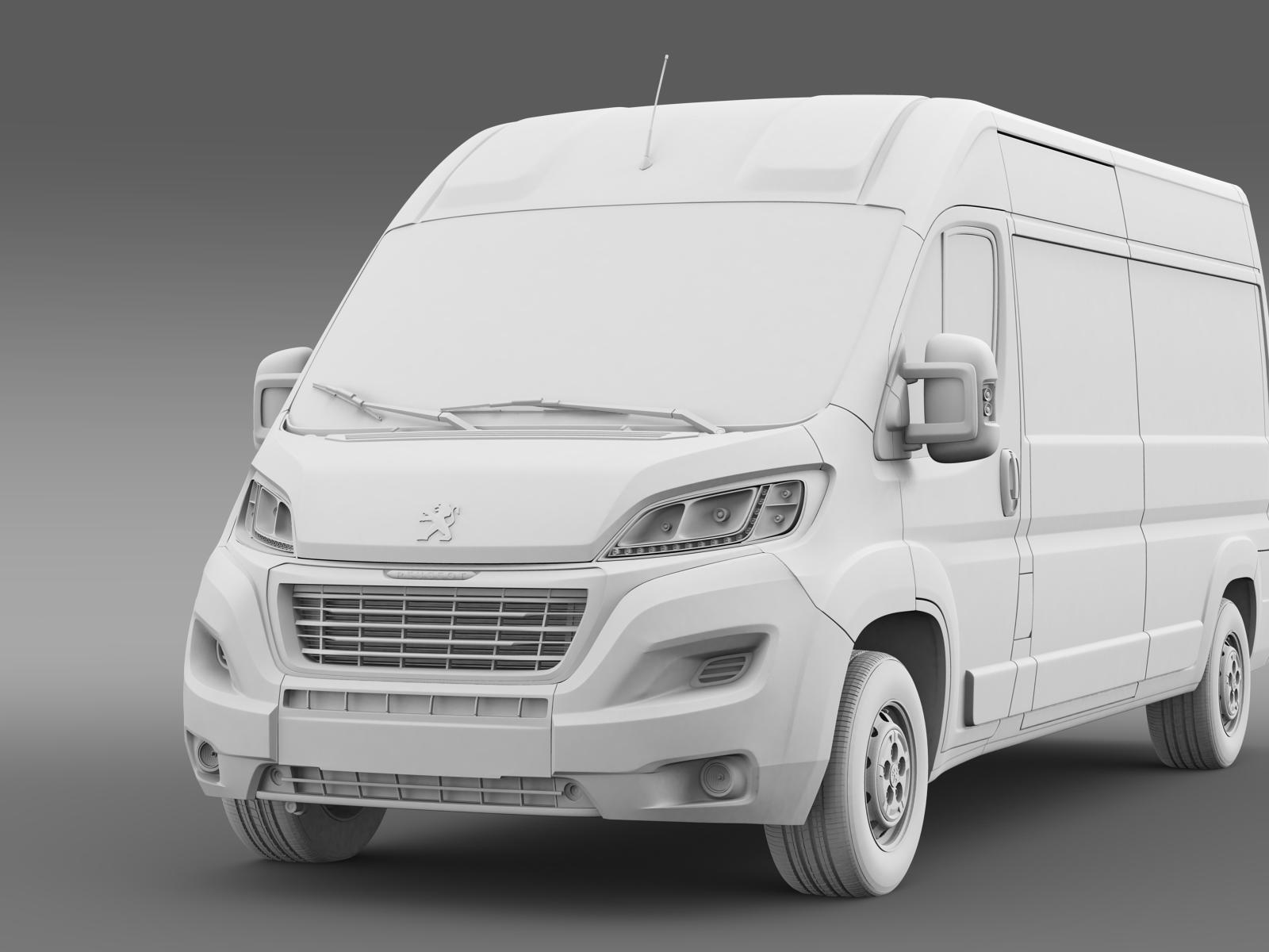 peugeot boxer van l3h2 2014 by creator 3d 3docean. Black Bedroom Furniture Sets. Home Design Ideas