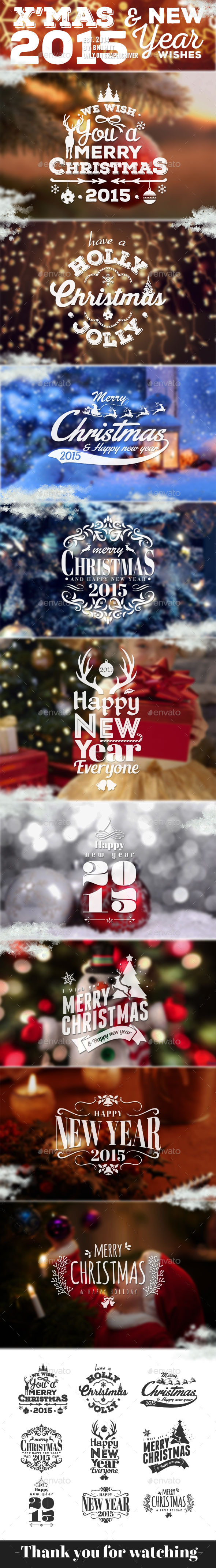 Xmas & New Year Wishes 2 - Badges & Stickers Web Elements