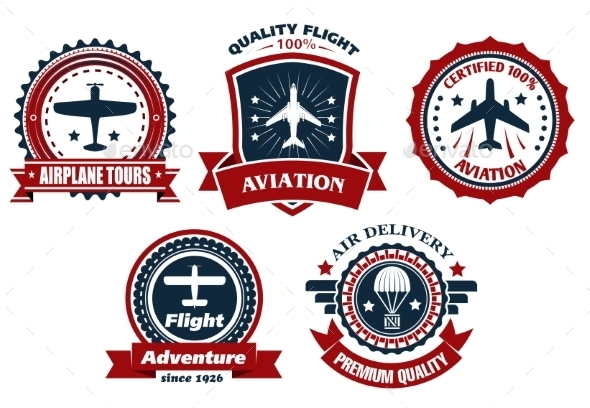 Aircraft and Aviation Banners - Travel Conceptual