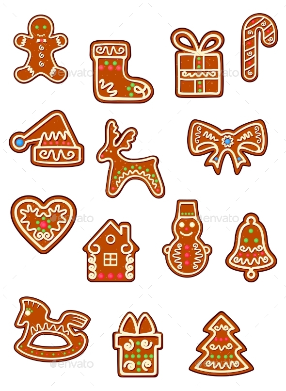 Brown Christmas Gingerbreads and Cookies - Christmas Seasons/Holidays