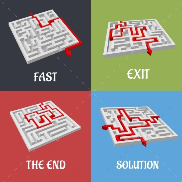 Labyrinth Puzzles - Business Conceptual
